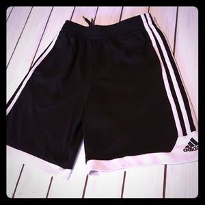 Adidas black athletic shorts size 10-12 youth